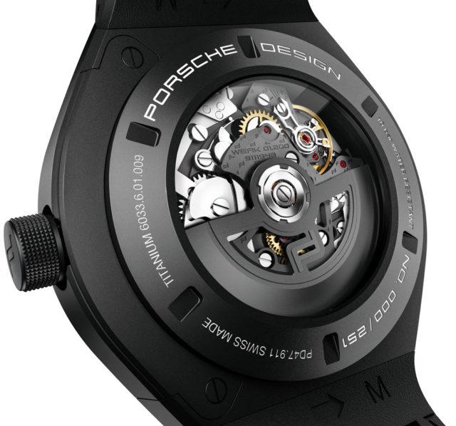 Porsche Design: Monobloc Actuator Chronotimer Flyback Automatikkaliber 01.200