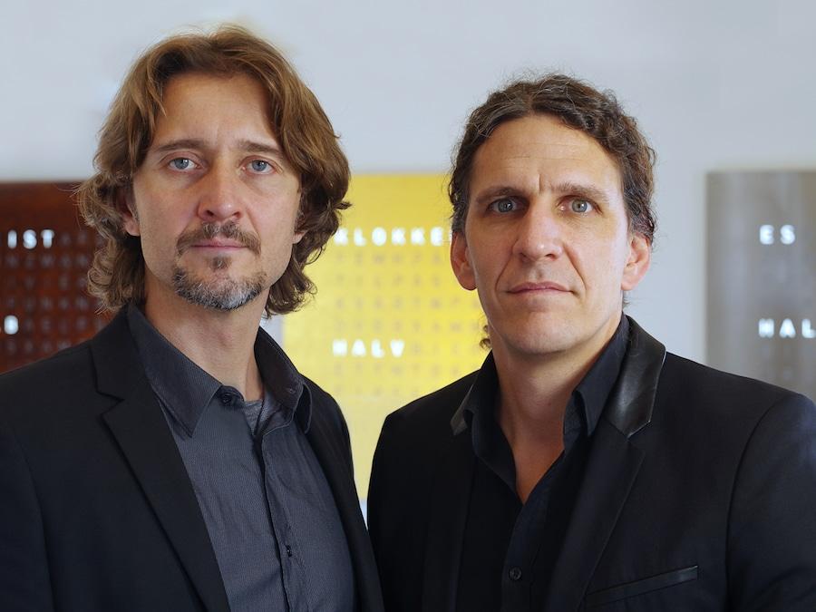 Andreas Funk und Marco Biegert sind Erfinder  der Qlocktwo und Geschäftsführer der Manufaktur  in Schwäbisch Gmünd.