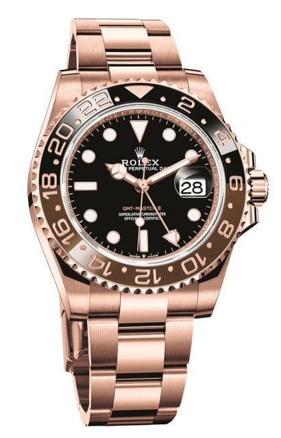 Rolex: Oyster Perpetual GMT-Master II in Everose-Gold mit Jubilé-Band
