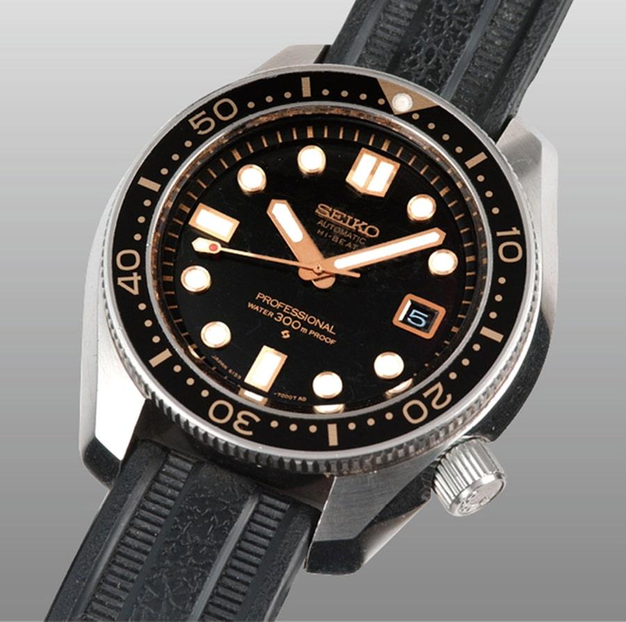 Zum Vergleich: die Seiko Hi-Beat Diver von 1968