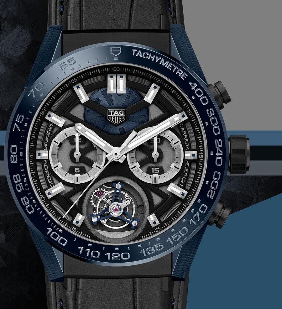 "TAG Heuer: Carrera ""Tête de Vipère"" Chronograph Tourbillon Chronometer"