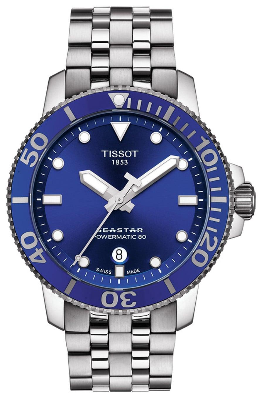 Die Tissot Seastar 1000 Gent Automatic mit strahlend blauem Zifferblatt