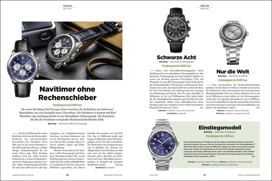 Auf 20 Seiten berichtet das UHREN-MAGAZIN Sonderheft zur Baselword über die Neuheiten der führenden Hersteller.