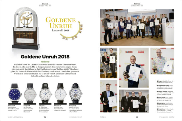 Die Goldene Unruh 2018 ist ein traditioneller Höhepunkt des Uhrenjahres. Wir berichten von der Preisverleihung.