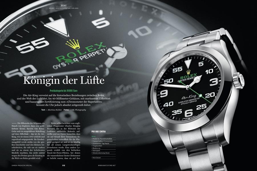 Mit der Air-King greift Rolex seine Tradition als Fliegeruhrenhersteller auf.