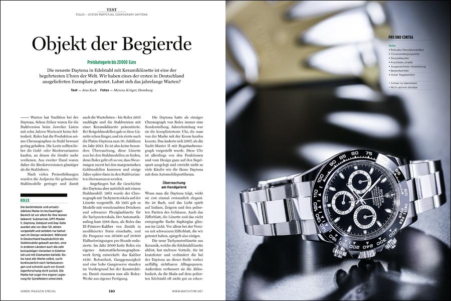 Die Rolex Daytona muss im Test ihre Qualitäten als Superlative Chronometer unter Beweis stellen.