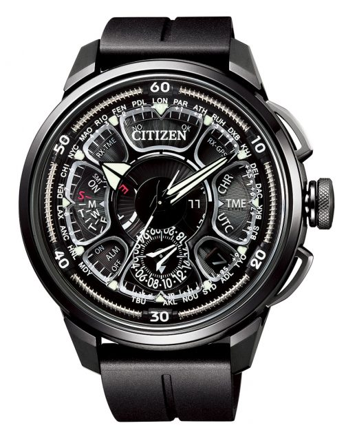 Citizen: Satellite Wave GPS F990 mit beigen Akzenten