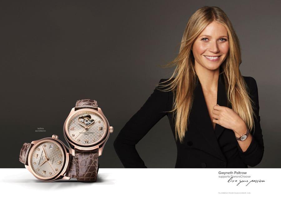 Internationale Charity Markenbotschafterin von Frédérique Constant: Gwyneth Paltrow