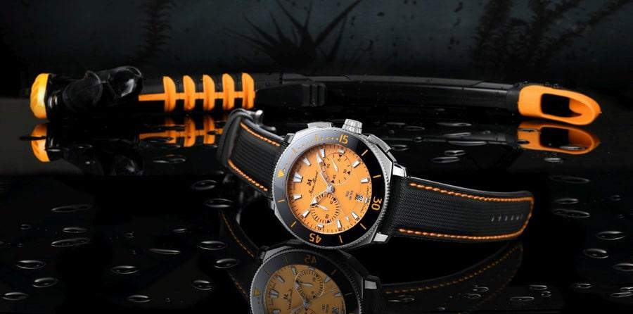 Jean Marcel: Oceanum Chronograph in Orange