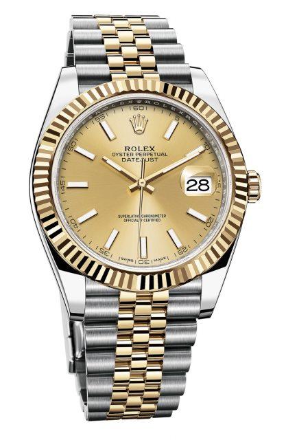 Rolex: Datejust Rolesor Gelb