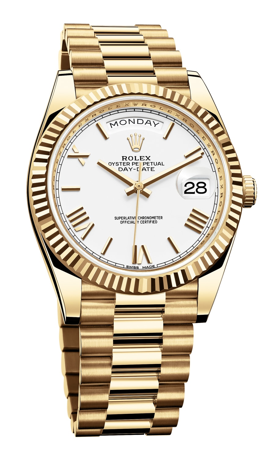 Rolex: Oyster Perpetual Day-Date 40 in Gelbgold
