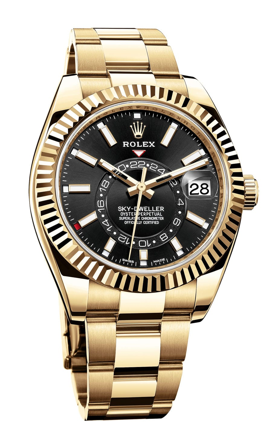 Rolex: Oyster Perpetual Sky-Dweller in Gelbgold