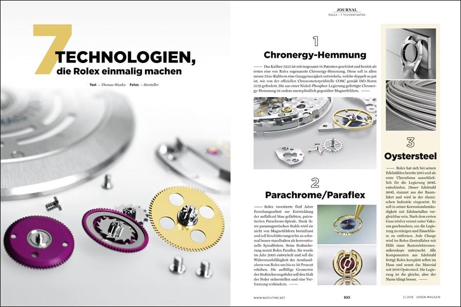 Diese 7 Technologien machen Rolex einmalig.