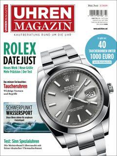 Die Titelseite der aktuellen UHREN-MAGAZIN-Ausgabe 3/2018.