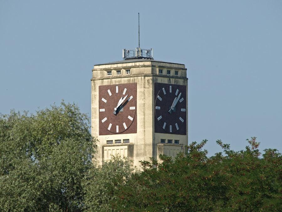 Uhrenturm des Wasserturms Veritas in Wittenberge