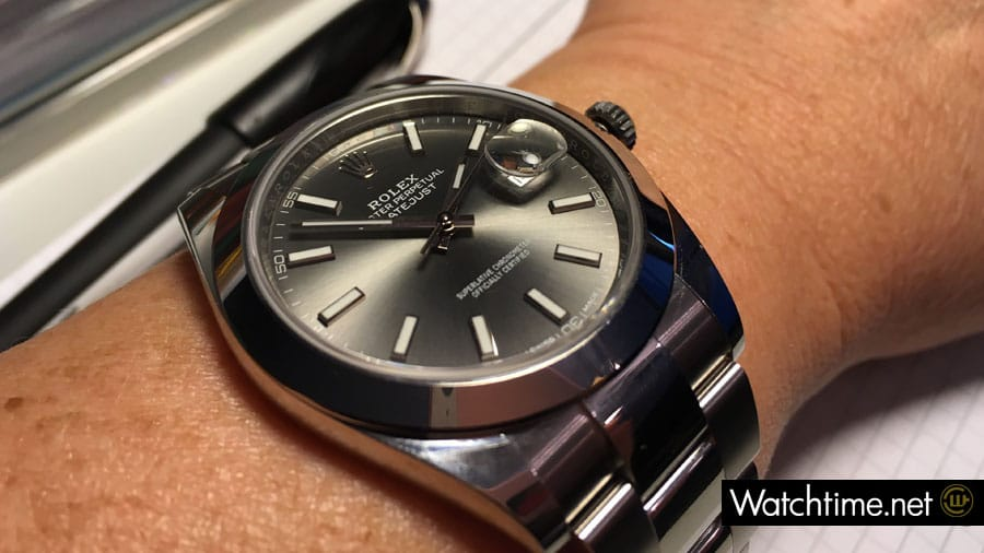 Wristshot: Rolex Oyster Perpetual Datejust 41 in Edelstahl