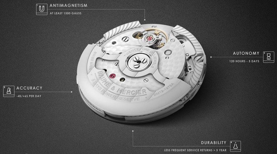 Baume & Mercier: Qualitätsmerkmale des Baumatic-Uhrwerks