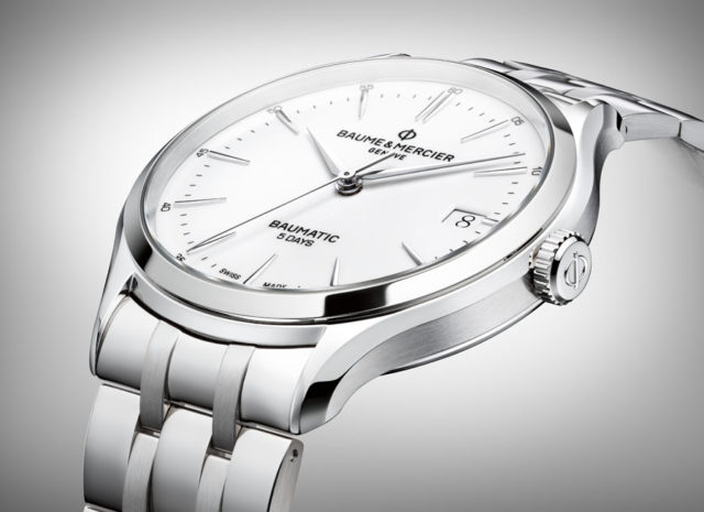 Baume & Mercier: Clifton Baumatic mit Edelstahlband