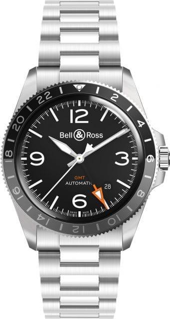 Bell & Ross: BR V2-93 GMT mit Edelstahlband