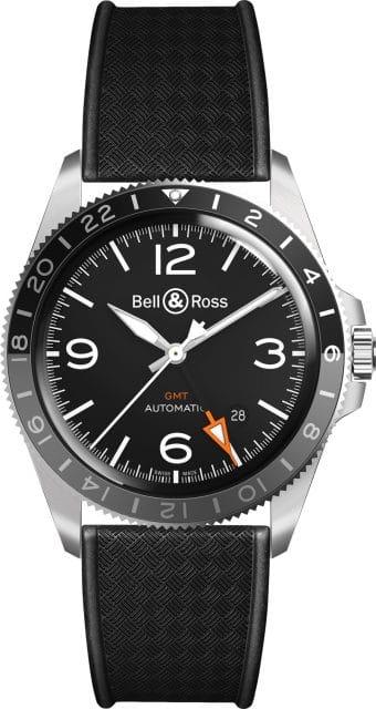 Bell & Ross: BR V2-93 GMT mit Kautschukband