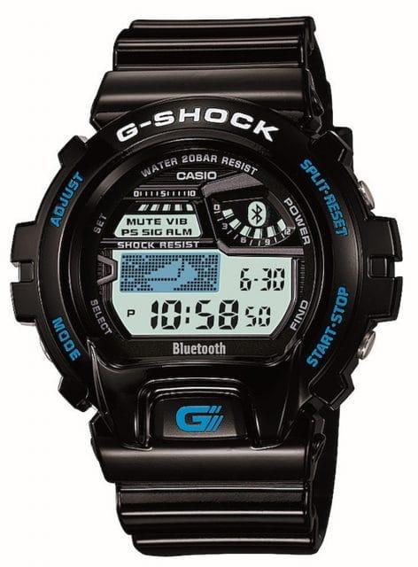 Moderne Technologie: Seit 2012 wird die G-Shock von Casio auch mit der Bluetooth-Technologie ausgestattet. Hier die GB-6900.
