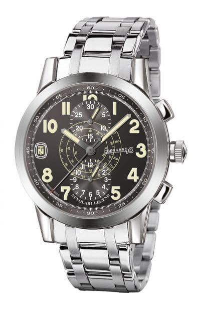 Eberhard & Co.: Nuvolari Legend in 43 mm mit Stahlband