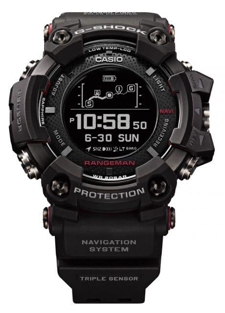 Die neueste Rangeman: Die Casio G-Shock GPR-B1000 (799 Euro) ist die erste solargestützte Navigationsuhr weltweit.