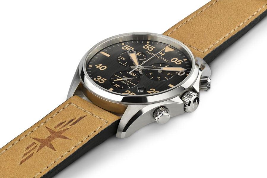 Hamilton-Khaki-Pilot-Day-Date-wuestenbraunes-Lederband-2