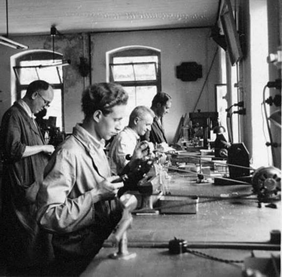 Mühle Glashütte: Produktion um 1950