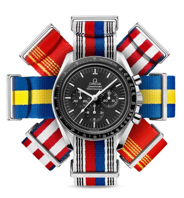 Omega bietet nun NATO-Armbänder in Flaggenfarben an.
