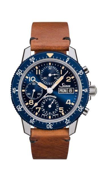 Blauer Fliegerchronograph: Sinn 103 Sa B E