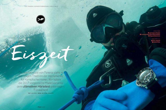 Extremtest unterm Eis: Panerai Luminor Submersible 1950 Amagnetic 3 Days Automatic Titanio