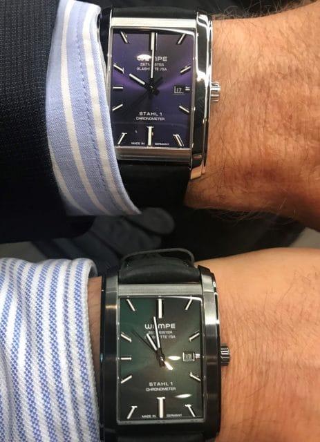 Wristshot der beiden Varianten der Zeitmeister Stahl 1
