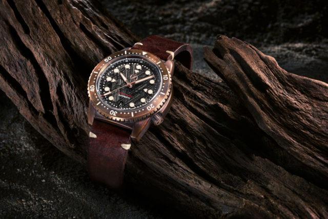 Zelos: Mako 500m Bronze Diver Meteorite