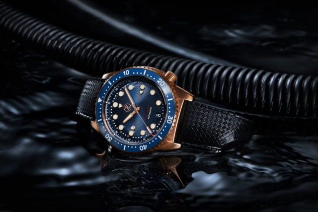 Zelos: Mako 500m Bronze Diver in Blau