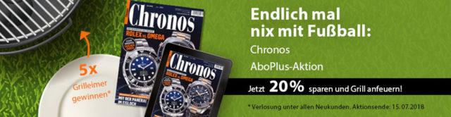 AboPlus Chronos: Aktion WM 2018