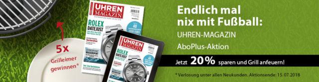 AboPlus UHREN-MAGAZIN: Aktion WM 2018