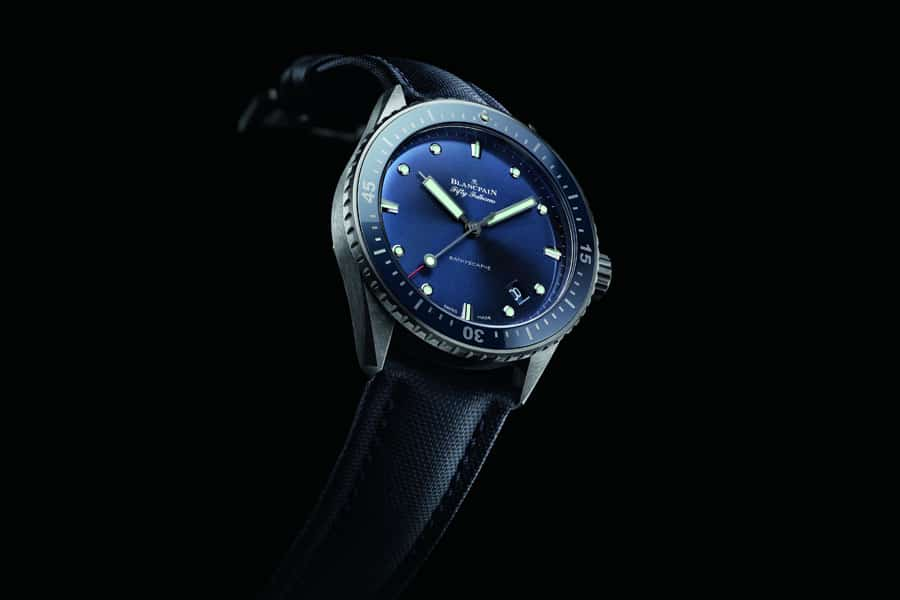 Blancpain: Fifty Fathoms Bathyscaphe blau