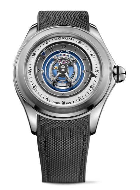 Corum: Bubble Central Tourbillon in Titan