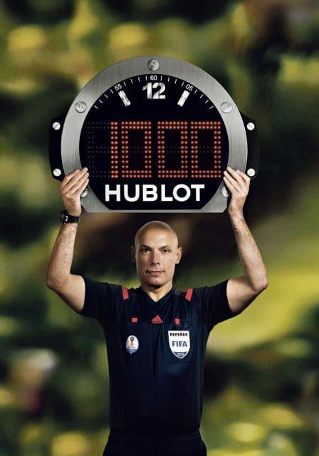 Hublot: Schiedsrichtertafel bei der FIFA-WM 2018 in Russland