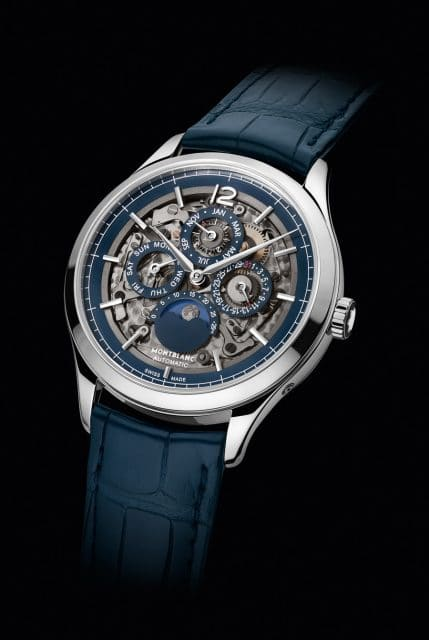 Montblanc: Heritage Chronométrie Perpetual Calendar Sapphire (12.500 Euro)