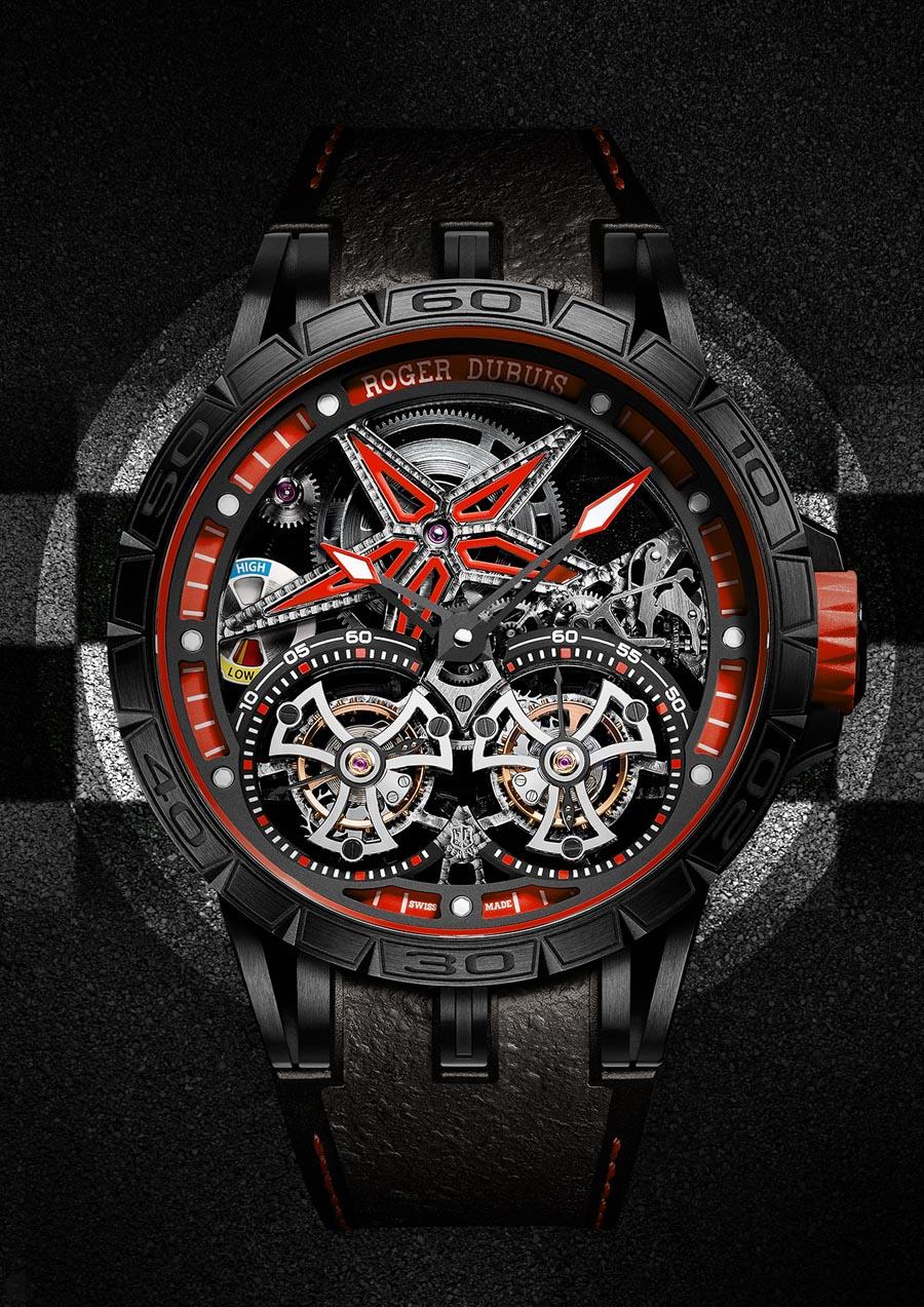 Roger Dubuis: Excalibur Spider Pirelli Fliegendes Doppeltourbillon