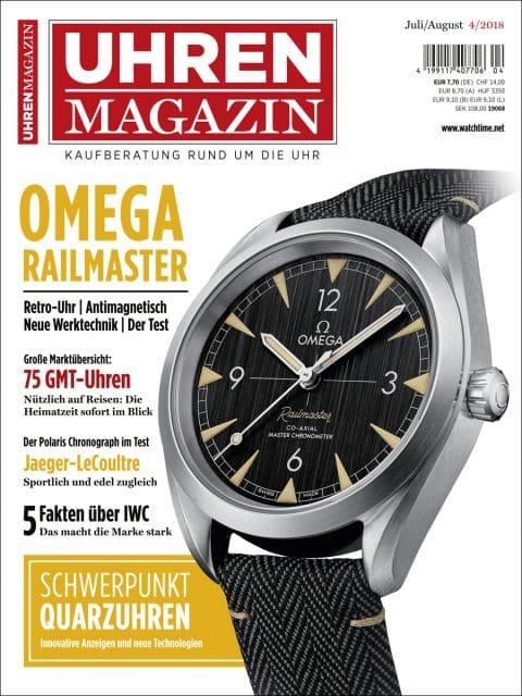 Die neue UHREN-MAGAZIN-Ausgabe 4/2018