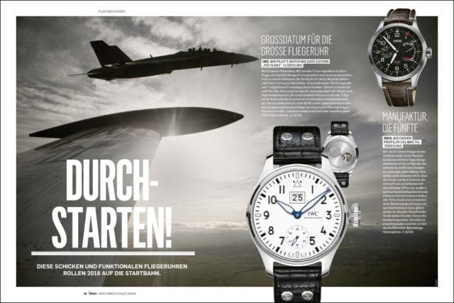 Ganz hoch oben: Fliegeruhren im neuen Chronos Sportuhren-Katalog
