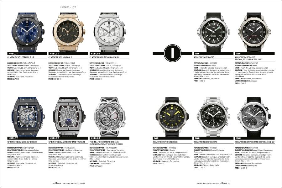 Marken von A bis Z: 1.200 Uhren im Chronos Sportuhren-Katalog 2018/19