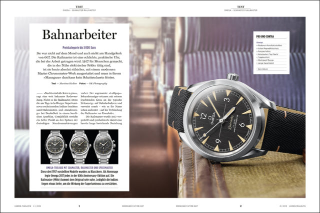 Test der Omega Seamaster Railmaster Co-Axial Master Chronometer