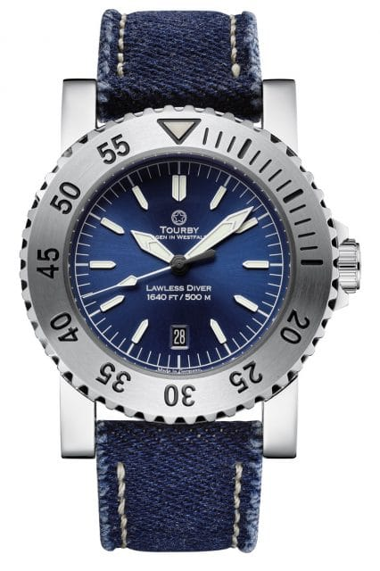 Tourby Watches: Lawless 45 Blue Jeans
