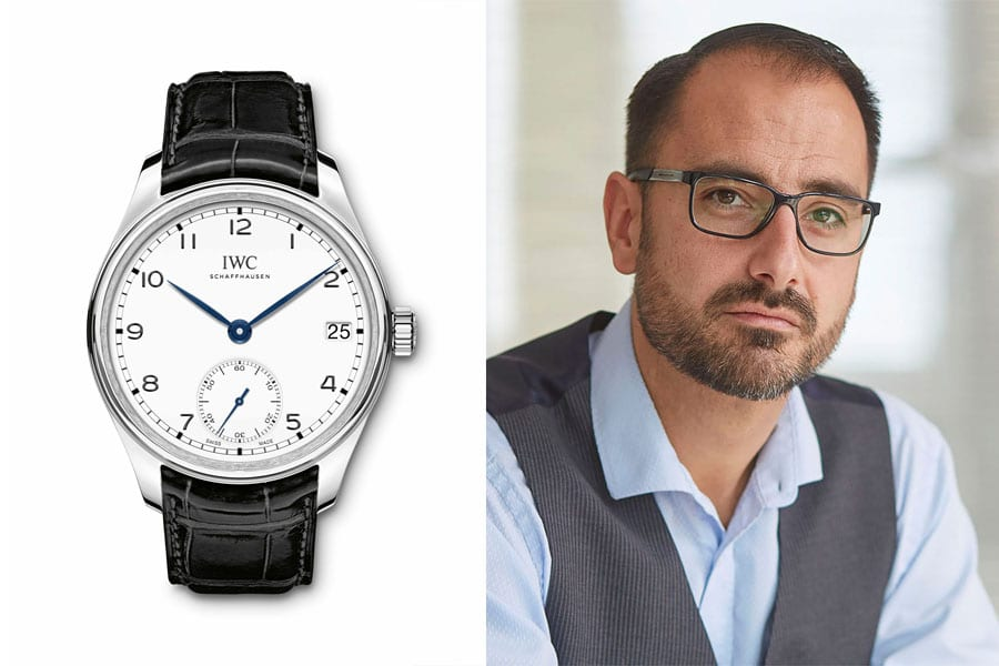 "Alexander Krupp, Chronos-Redakteur, empfiehlt die IWC Portugieser Hand-Wound Eight Days Edition ""150 Years"""