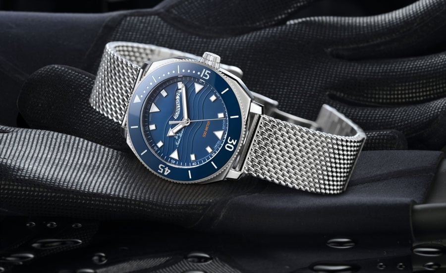 Jean Marcel: Oceanum La Grande Bleue No.2 mit blauem Zifferblatt