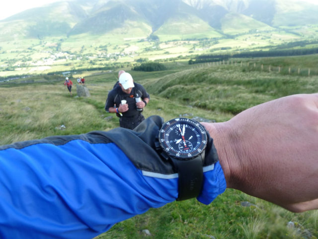 Beim 100-Meilen-Lauf Lakeland 100 in England trug Zeller die U1000 S.